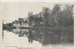 86, Vienne,  ANGLES -sur-l'ANGLIN,  Le Chateau Féodal Et Les Bords De L'Anglin, Scan Recto-Verso - Other Municipalities