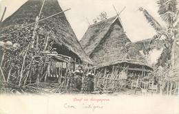 """Asie Singapour Dorf In Singapore Annotation Manuscrite """"Case Indigène"""" Village - Singapur"""