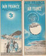 Rare Lot De Deux Marques Pages Années 30 Avions Air France - Bookmarks