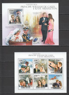 BC601 2011 GUINE GUINEA-BISSAU FAMOUS PEOPLE ROYAL WEDDING PRINCE WILLIAM KATE MIDDLETON 1KB+1BL MNH - Royalties, Royals