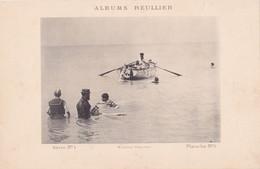 Image : ALBUMS REULLIER : Série N°1 - Pl.  N°5 : Baignade - Bateau - Maillot De Bains à Rayures  : MODE : 24,5cm X 16cm - Andere