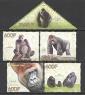 PE326 2014 GORILLAS PRIMATES MONKEYS WILD ANIMALS FAUNA 1SET MNH - Gorilla's