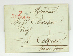 7 SEDAN Pour Colmar 1802 Pierre Et Jean Barthelemey Freres - 1801-1848: Precursors XIX