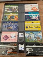 Belgie - Telecard Belgacom 1995 Tot 1997 - Stripkaarten Verzameling - Sammlungen