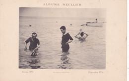 Image : ALBUMS REULLIER : Série N°1 - Pl.  N°8 : Baignade - Bateau - Maillot De Bains à Rayures  : MODE : 24,5cm X 16cm - Andere