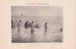Image : ALBUMS REULLIER : Série N°1 - Pl.  N°9 : Baignade - Hommes En Maillot De Bains à Rayures  : MODE : 24,5cm X 16cm - Andere