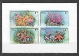 RR055 ONLY ONE IN STOCK IMPERF 2007 COOK ISLANDS MARINE LIFE SEA STARS CORALS 1BL MNH - Vita Acquatica