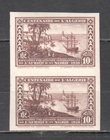 TT250 !!! IMPERFORATE 1930 ALGERIA L'ALGERIE TRANSPORT SHIPS AIR MAIL MICHEL #101 ORIGINAL GUM 2ST MNH - Barche