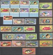 WW894 1967 UMM AL QIWAIN FISH & MARINE LIFE MICHEL #171-97 24 EURO BIG SET MNH - Meereswelt