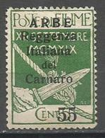 Arbe,Definitive With Overprint 55/5 C 1920.,MH - Arbe & Veglia