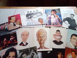 22 CARTES  COMEDIEN CHANTEUR  7 SONT DEDICACEE - 5 - 99 Postkaarten