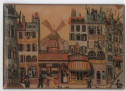 Plaque  Métal  Plastifiée   Moulin Rouge  6 Cm  X 8.5 Cm - Sonstige