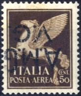 ** 1945, Posta Aerea 50 Cent. Con Soprastampa Capovolta, Integro, Sass. 1b - Non Classificati