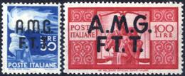 ** 1945, 30 Lire E 100 Lire Democratica, Linguellati, Sass. 15+17 - Non Classificati