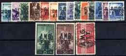 O 1945, Serie Completa Di 18 Valori, Usati, Sass. 1/17 - Non Classificati
