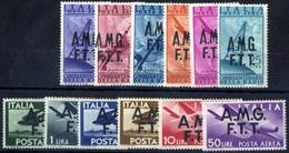 ** 1947, Posta Aerea Serie Completa Di 12 Valori Integri, Sass. 1/12 - Non Classificati