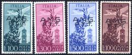 ** 1948, Posta Aerea Serie Completa Di 4 Valori Integri, Cert. Biondi, Sass. 13/16 - Non Classificati