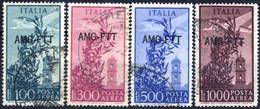 O 1948, Posta Aerea Serie Completa Di 4 Valori Usati, Sass. 23/26 - Non Classificati