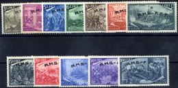 ** 1948, Serie Completa Di 12 Valori, Integri, Qualche Piccolo Valore Ingiallito, Sass. 18/29 - Non Classificati