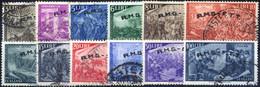 O 1948, Serie Completa Di 12 Valori, Usati, Sass. 18/29 - Non Classificati