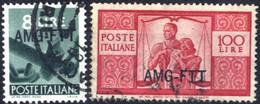 O 1949, 8 Lire E 100 Lire Democratica, Usati, Sass. 61+67 - Non Classificati