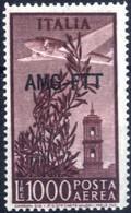 ** 1949, Posta Aerea 1000 Lire Dent 14, Integro, Sass. 26 - Non Classificati