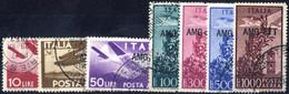 O 1949, Posta Aerea Serie Completa Di 6 Valori Usati, Sass. 20/26 - Non Classificati