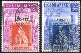 O 1949, Serie Completa Di 2 Valori, Usati, Sass. 108/9 - Non Classificati