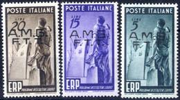 ** 1949, Serie Completa Di 3 Valori, Integri, Sass. 43/45 - Non Classificati