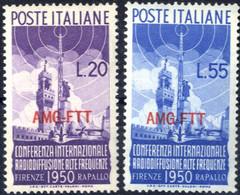 ** 1950, Serie Completa Di 2 Valori, Integri, Sass. 76/77 - Non Classificati