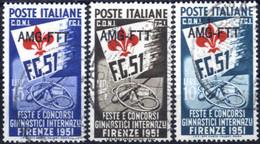 Cto 1951, Serie Completa Di 3 Valori, Usati Con Annulli Di Favore, Sass. 116/18 - Non Classificati