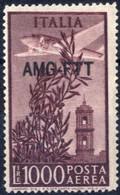 ** 1952, Posta Aerea 1000 Lire Dent 14 X 13 1/4, Integro, Cert. Biondi, Sass. 26A - Non Classificati