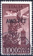 O 1952, Posta Aerea 1000 Lire Dent 14 X 13 1/4, Usato, Cert. Biondi, Sass. 26A - Non Classificati