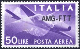 ** 1954, Posta Aerea 50 Lire Integro Con Qualche Piccolo Punto Di Ruggine, Sass. 22A - Non Classificati