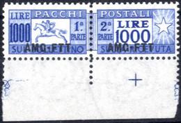 ** 1954, Cavallino 1000 Lire Con Bordo Di Foglio, Integro, Cert. Biondi, Sass. 26 - Non Classificati