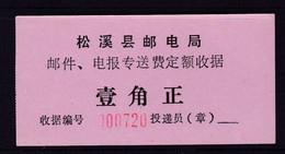 CHINA CHINE  FUJIAN PUCHENG 353400 ADDED CHARGE LABEL (ACL) 0.10 YUAN X - Non Classificati