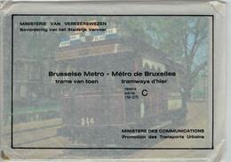 9 Cartes Composant La Série C (19-27) Du Métro De Bruxelles - Brusselse Metro - Impeccable (emballage D'origine) - Vervoer (ondergronds)