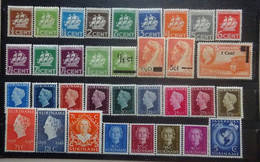 NEDERLANDS  SURINAME   Samenstelling  Tussen Nr. 157  En 293       Scharnier * En Postfis ** - Suriname ... - 1975