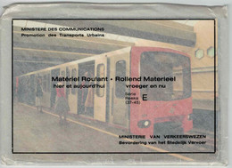 9 Cartes Composant La Série E (37-45) Du Métro De Bruxelles - Brusselse Metro - Impeccable (emballage D'origine) - Vervoer (ondergronds)