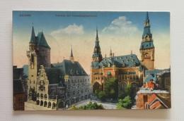 Cartolina Illustrata Aachen - Rathaus Mit Verwaltungsgebäude, Viaggiata 1924 - Aachen