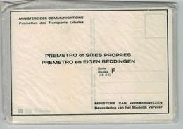 9 Cartes Composant La Série F (46-54) Du Métro De Bruxelles - Brusselse Metro - Impeccable (emballage D'origine) - Vervoer (ondergronds)