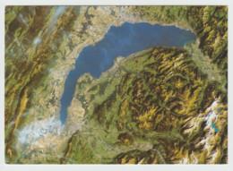 SUISSE . Lac Léman . Satellite Américain Landsat 5 TM 1986 .....explications Au Verso...neuve - Unclassified