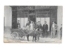 45 - PITHIVIERS : Delassus Chiffonnier, Restaurant BOURRIAU, Attelage Avec Ane, Carte Pas Très Courante, - Pithiviers