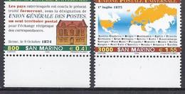 San Marino 1999 UPU Michel Nr. 1836 - 1837 - Unused Stamps