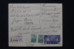 U.R.S.S. - Enveloppe En Recommandé De Kiev Pour Berlin En 1940 Avec Cachet De Contrôle Au Dos - L 92338 - Covers & Documents