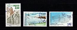 France  Service YT 92- 115 Et 117 UNESCO Patrimoine Universel Mosquée De Begerhat  Los Glaciarès Argentine - Usados