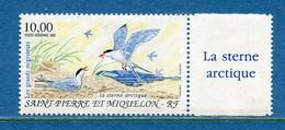 ⭐ Saint Pierre Et Miquelon - Poste Aérienne - YT PA N° 74 ** - Neuf Sans Charnière - 1995 ⭐ - Nuovi
