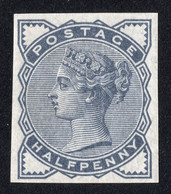 Timbre Grande Bretagne Reine Victoria Un Demi Penny Bleu Ardoise  SG187 Neuf Imprimatur - Unused Stamps
