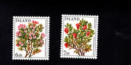 1221934087 SCOTT 593 594 POSTFRIS (XX) MINT NEVER HINGED EINWANDFREI  - FLOWERS - FLORA - Unused Stamps