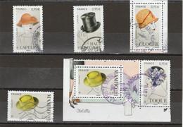FRANCE 2018 ISSU DU BLOC LES CHAPEAUX 2018 OBLITERE YT 5277 A 5282 - Used Stamps